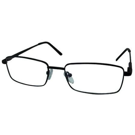 Ebe Men Black Rectangle Full Rim Spring Hinge Eyewear Reading Glasses (Buy Fashion Glasses)