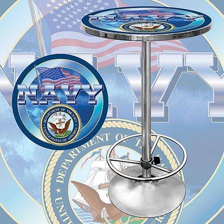 Trademark US Navy 42″ Pub Table, Chrome