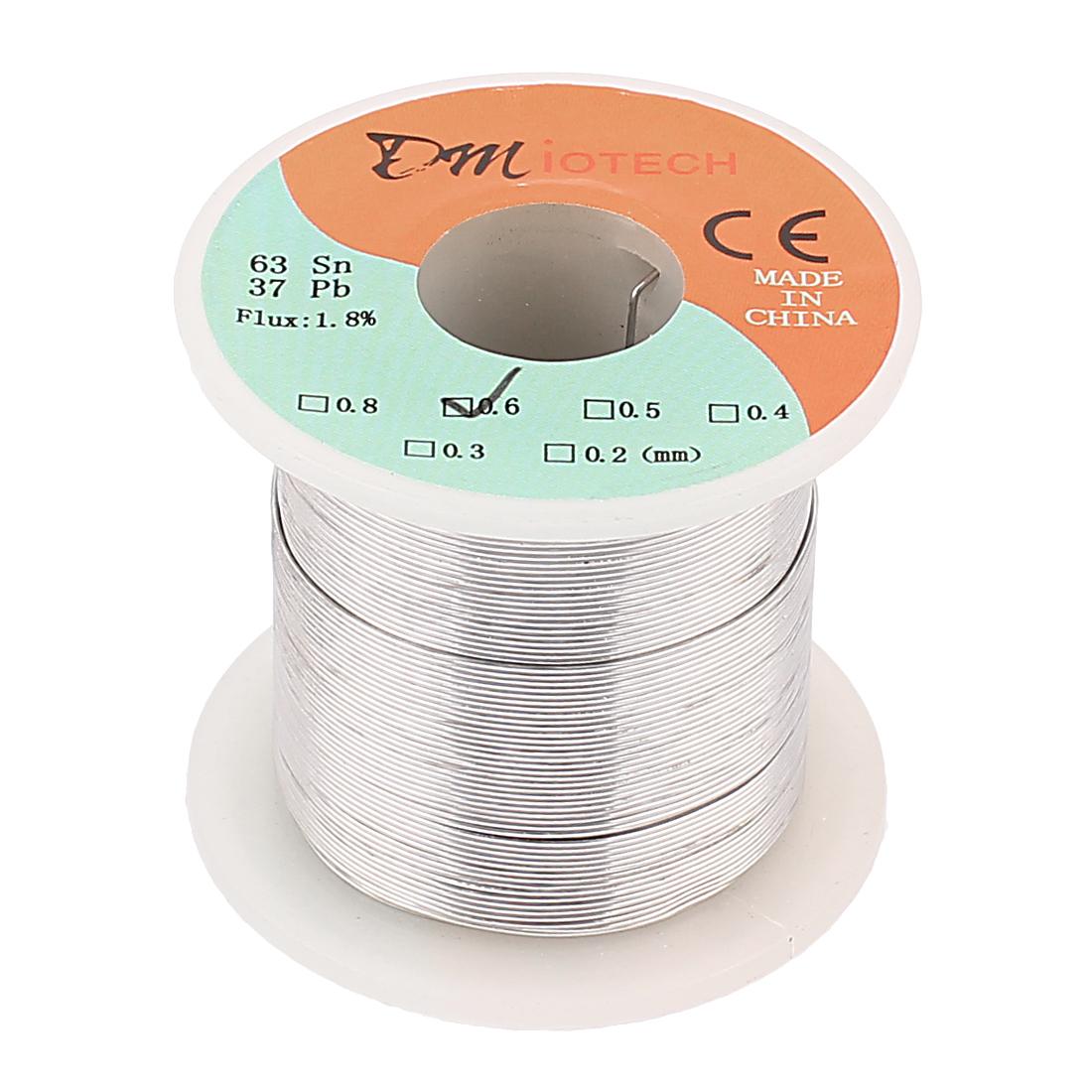 DMiotech 0.6mm 200G 63/37 Rosin Core Flux 1.8% Tin  Roll Soldering Wire