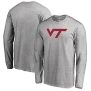 Virginia Tech Hokies Big & Tall Primary Logo Long Sleeve T-Shirt - Heather Gray