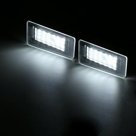 Pair 13.5V White LED Rear License Plate Lights For Hyundai Elantra 2011-2012  - image 2 of 7