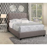 Devon & Claire Casey Tufted Upholstery Platform Bed, King
