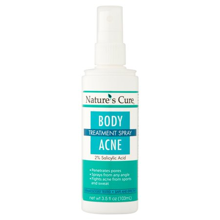 Natures Cure Body Acne Treatment Spray  3 5 Fl Oz