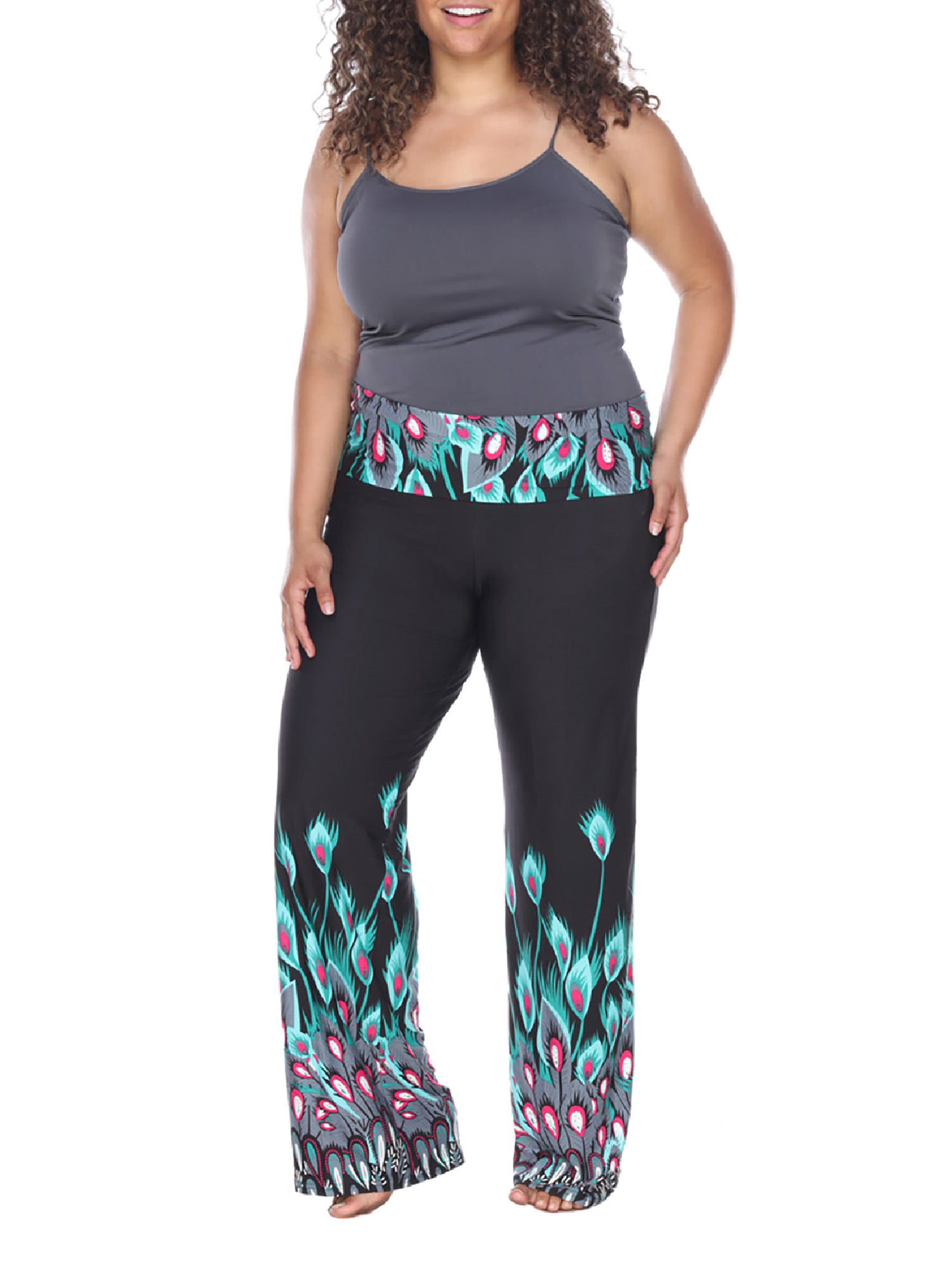 Women's Plus Size Printed Palazzo Pants