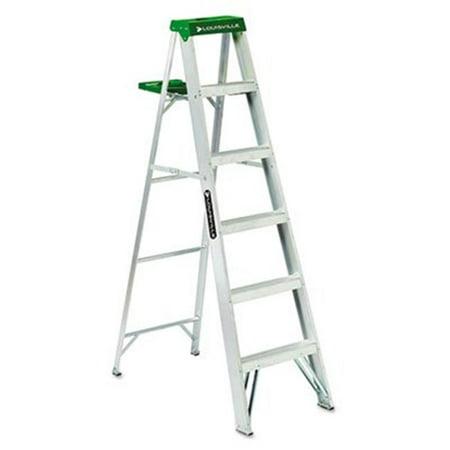 - AS40-06 No. 428 Six-Foot Folding Aluminum Step Ladder  Green