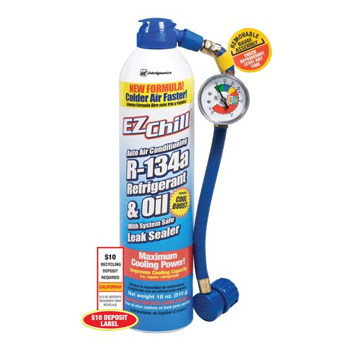 EZ Chill Refrigerant with Charging Hose/Gauge, 18 oz (California Only)