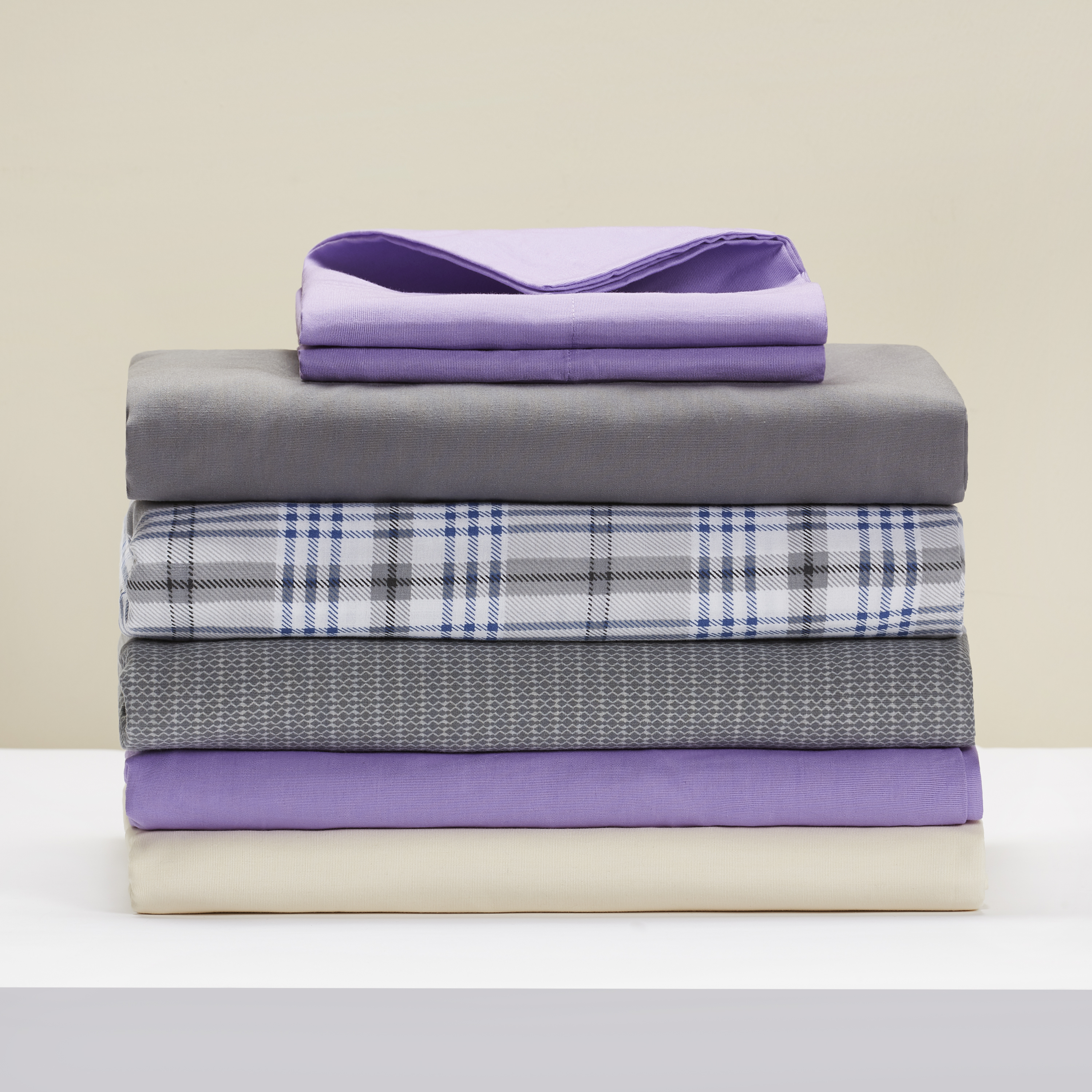 Mainstays 200 Thread Count violet Twin Bedding Flat Sheet Collection
