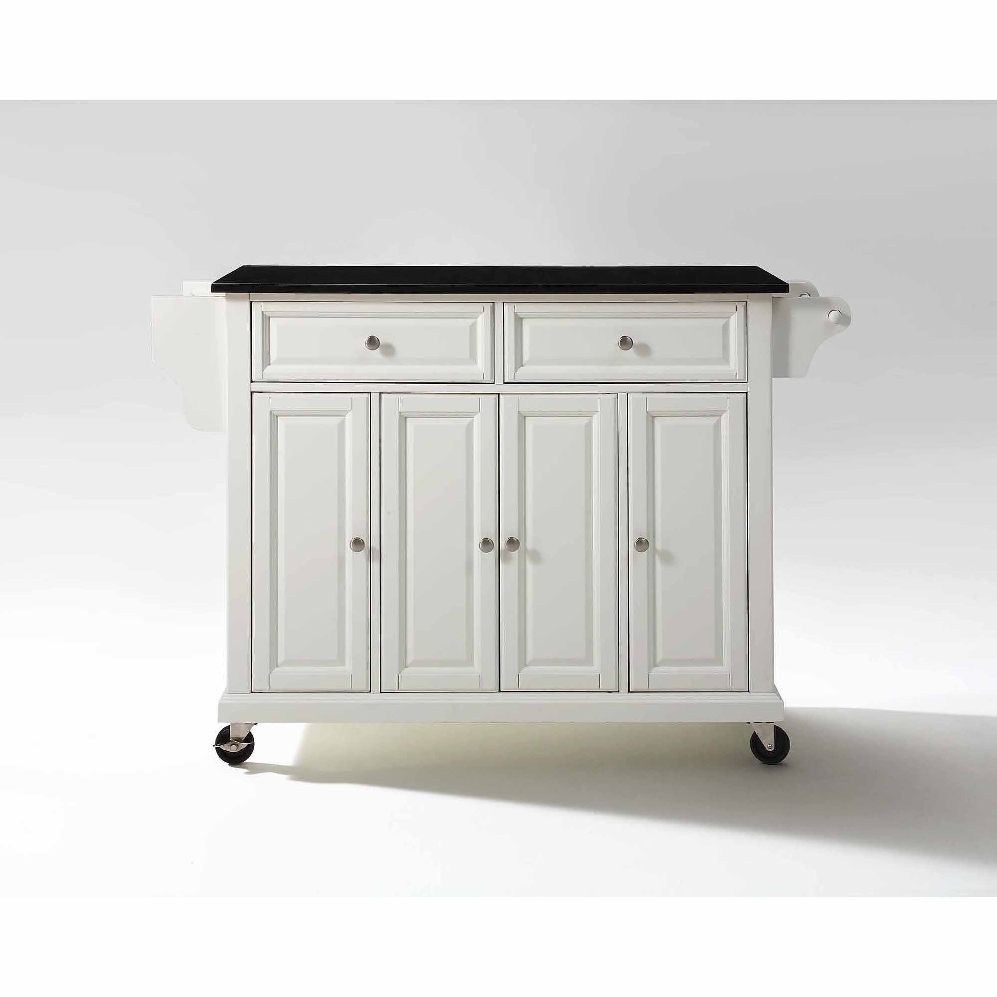 Crosley Furniture Solid Black Granite Top Kitchen Cart   Walmart.com