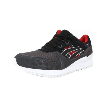 sports shoes 532b7 ef235 Asics Men's Gel-Lyte Iii Black / Red Grey Ankle-High Leather Running Shoe -  11M