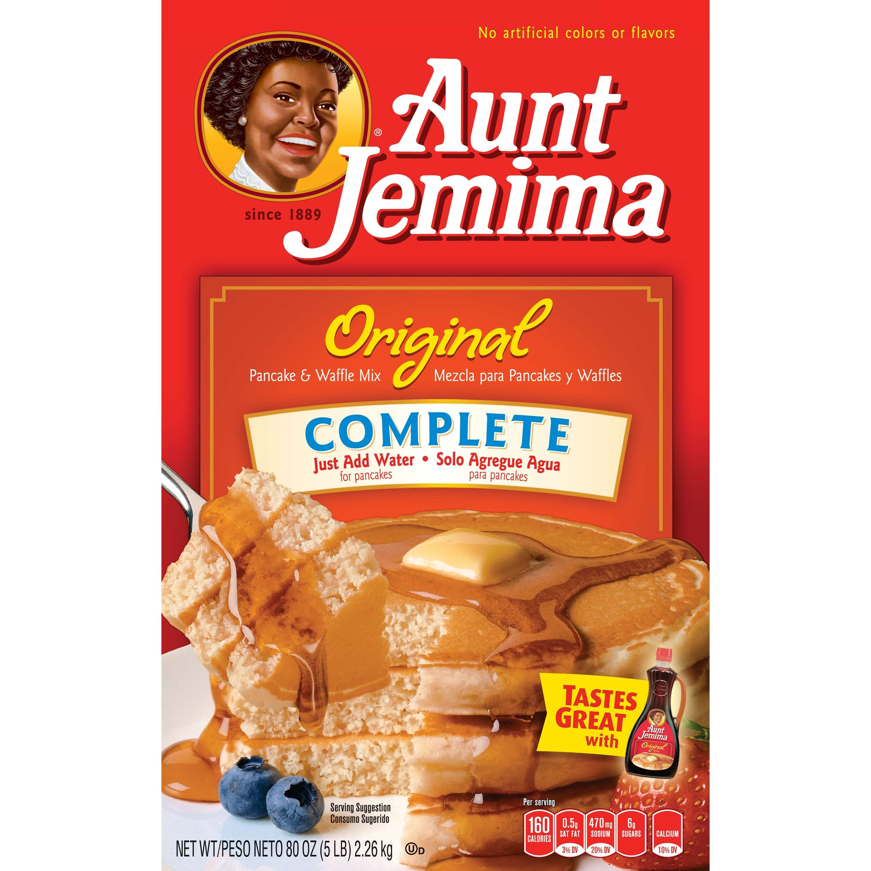 (6 Pack) Aunt Jemima Original Complete Pancake & Waffle Mix, 80 oz Box