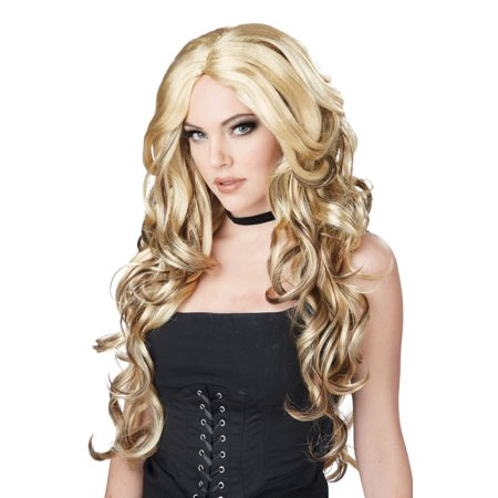 Blonde/Brown Celebrity Glam Wig Adult Halloween Accessory
