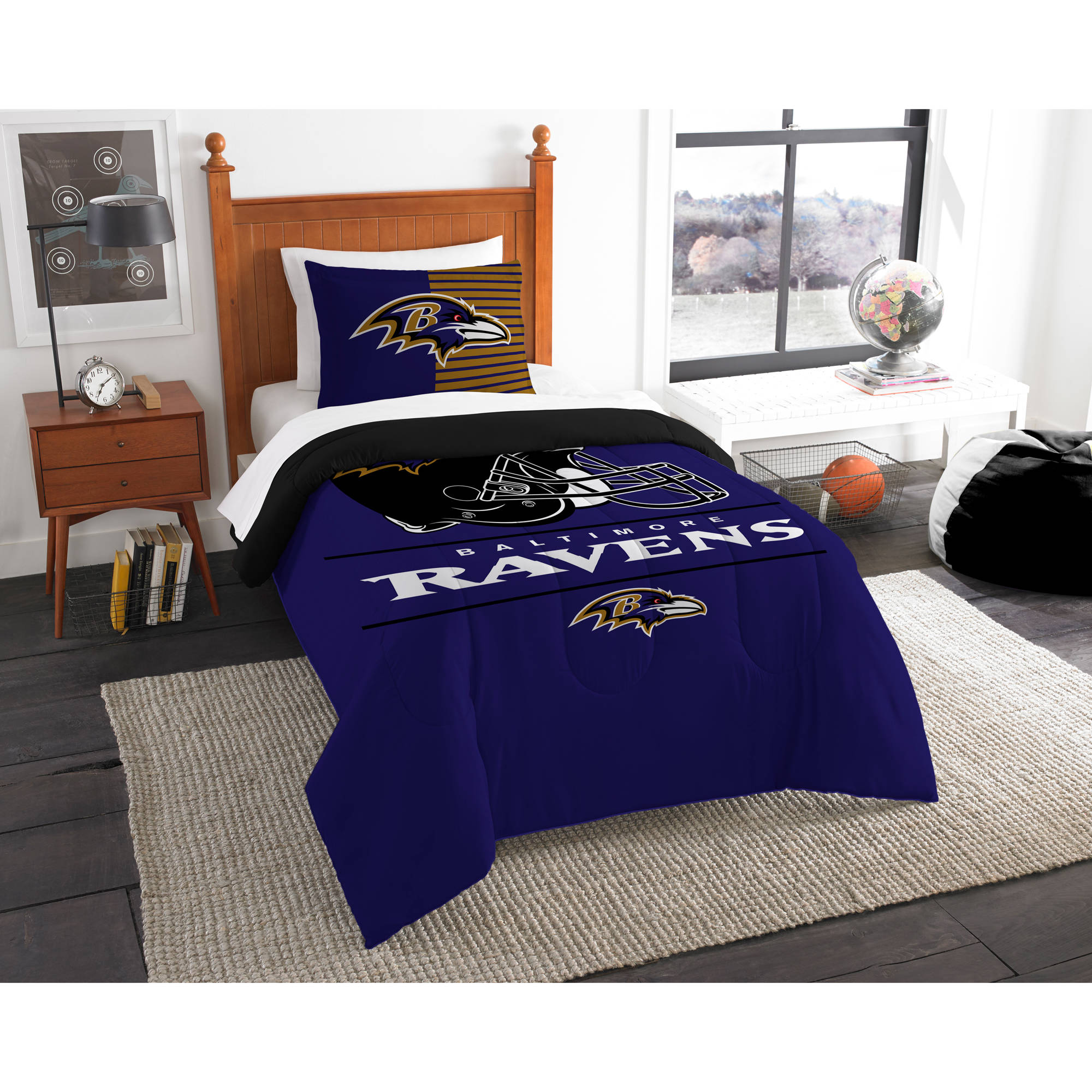 "NFL Baltimore Ravens ""Draft"" Bedding Comforter Set"