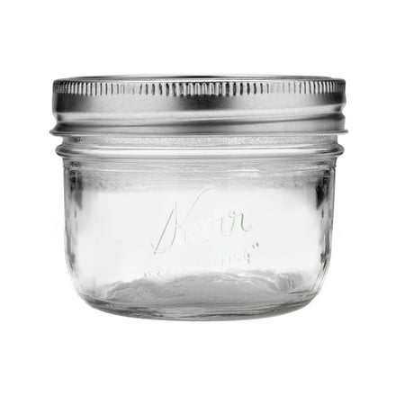 Tiny Mason Jars (Kerr Wide Mouth Half-Pint Glass Mason Jars with Lids and Bands, 8 oz., 12)