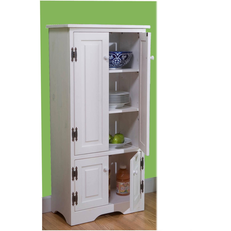 Versatile Wood 4-Door Floor Cabinet, Multiple Colors