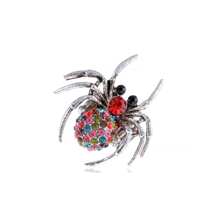 Colorful Poisonous Silver Tone Widow Tarantula Spider Crystal Rhinestone Ring](Colorful Spider)