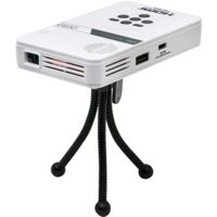 AAXA LED Pico Mini Portable Projector with Battery, HDMI, and Native 720p HD Resolution for Home and Travel