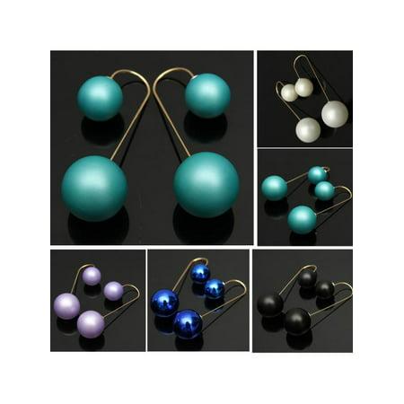 Pearl Drop Dangle Long Chain Threader Earrings Silver Plated Jewelry (Long Dangle Chain Earrings)