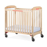 Foundations Next Gen First Responder Evacuation Compact Portable Mini Crib with Mattress, Natural