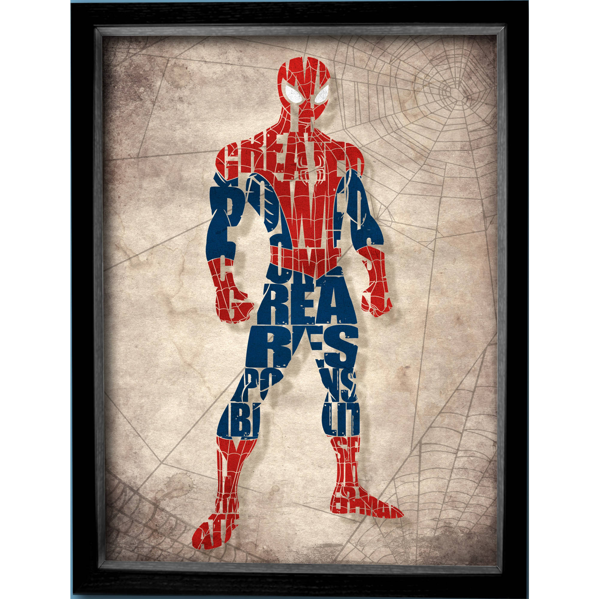 Marvel Printed Glass Spider-Man Shadowbox Frame