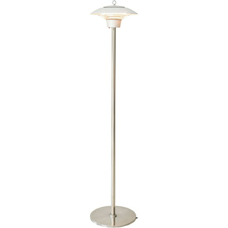 Image of Hanover Electric Halogen Infrared Stand Heat Lamp, Silver