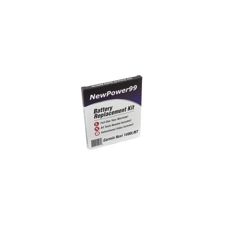 Garmin Nuvi 1490 LMT (Nuvi 1490LMT) Battery Replacement Kit with Tools, Video Instructions, Extended Life Battery and Full One Year Warranty](garmin nuvi 1490 battery)