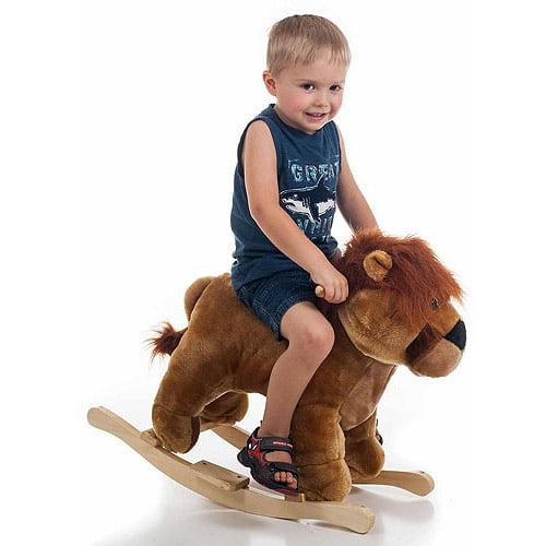 TRADEMARK GAMES INC Happy Trails Plush Rocking Animal, Lion