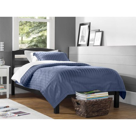 twin bed frame headboard footboard bedroom furniture kids platform black finish ebay. Black Bedroom Furniture Sets. Home Design Ideas