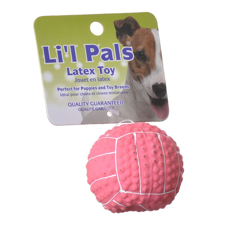 Lil Pals Latex Mini Volleyball for Dogs - Pink 2 Diameter - Pack of 4