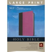 Premium Slimline Reference Bible NLT, Large Print, TuTone (Red Letter, LeatherLike, Pink/Brown)