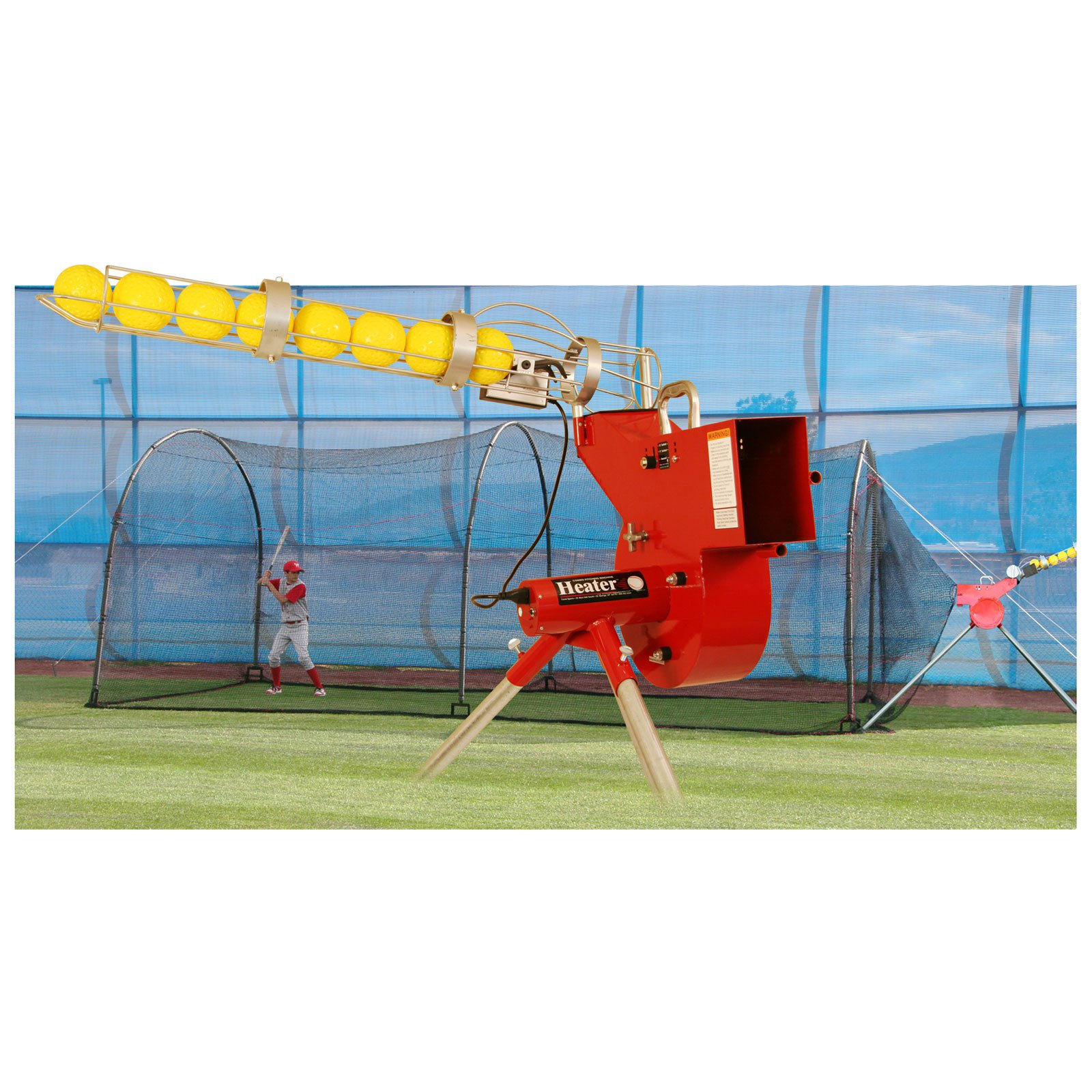 Heater Sports 24 ft. Combo Pitching Machine & Xtender Batting Cage Package