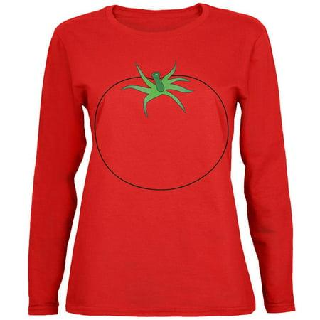Halloween Fruit Vegetable Tomato Costume Womens Long Sleeve T Shirt