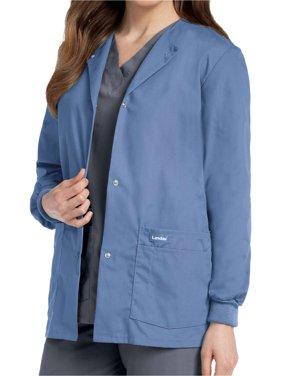 Landau Women's Snap Front Warm-up Scrub Jacket, Style 7525