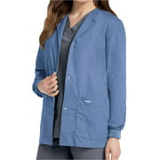 Landau Women's Snap Front Warm-up Scrub Jacket, Style 7525