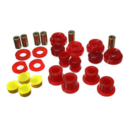 Knuckle Arm Set - Energy Suspension 06-11 Honda Civic Red Rear Lower Trailing Arm and Lower Knuckle Bushing Set