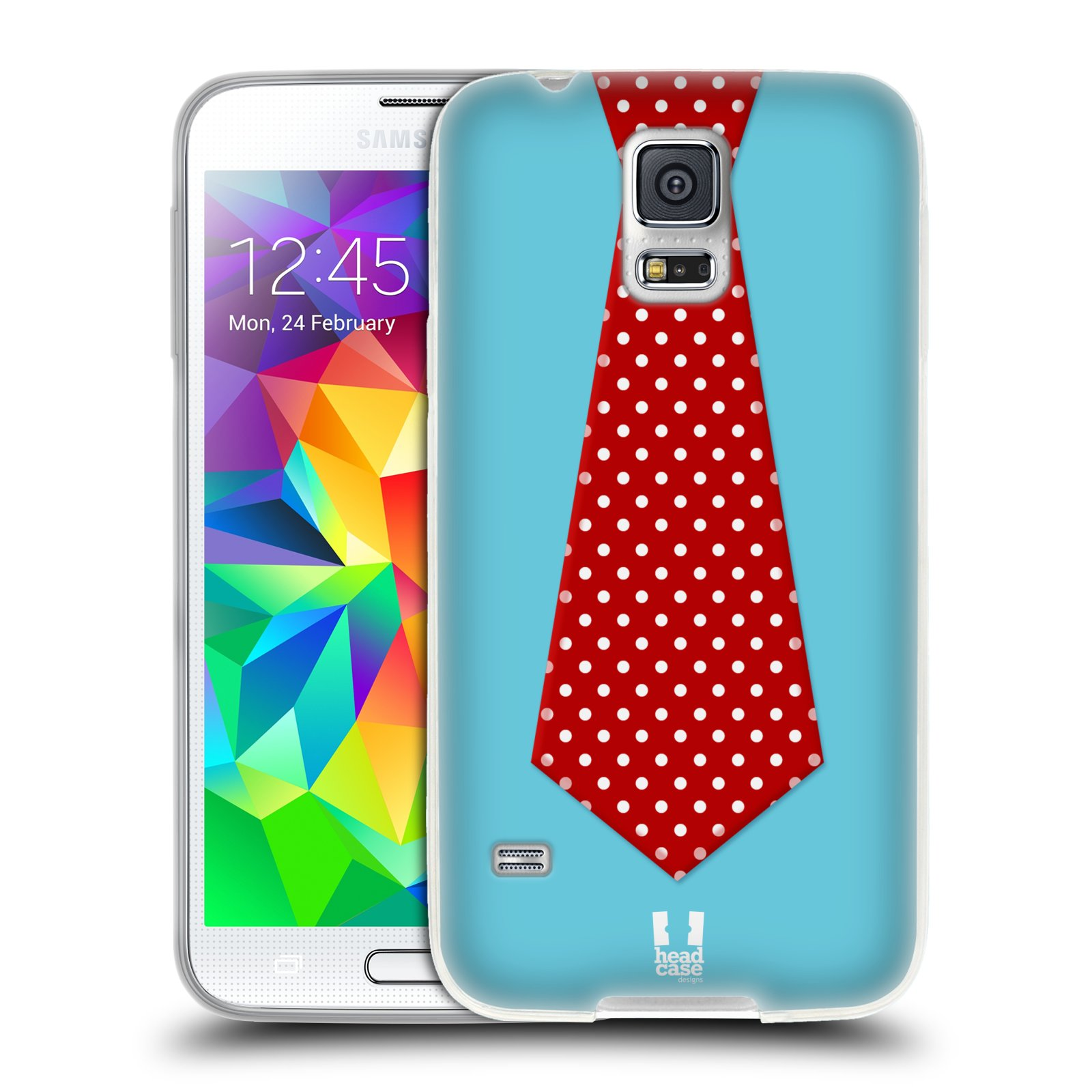 HEAD CASE DESIGNS FESTIVE-TIES SOFT GEL CASE FOR SAMSUNG PHONES 1