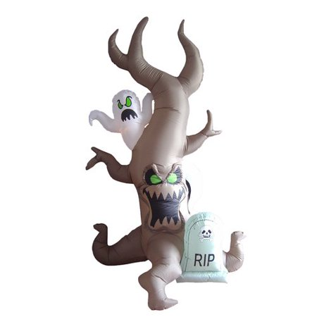 The Holiday Aisle Halloween Inflatable Grave Scene with Tree Monster and Ghost