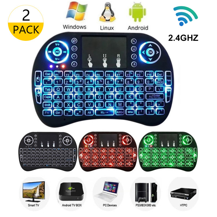 2.4GHz Mini Wireless LED Keyboard with Touchpad Mouse W/ ...