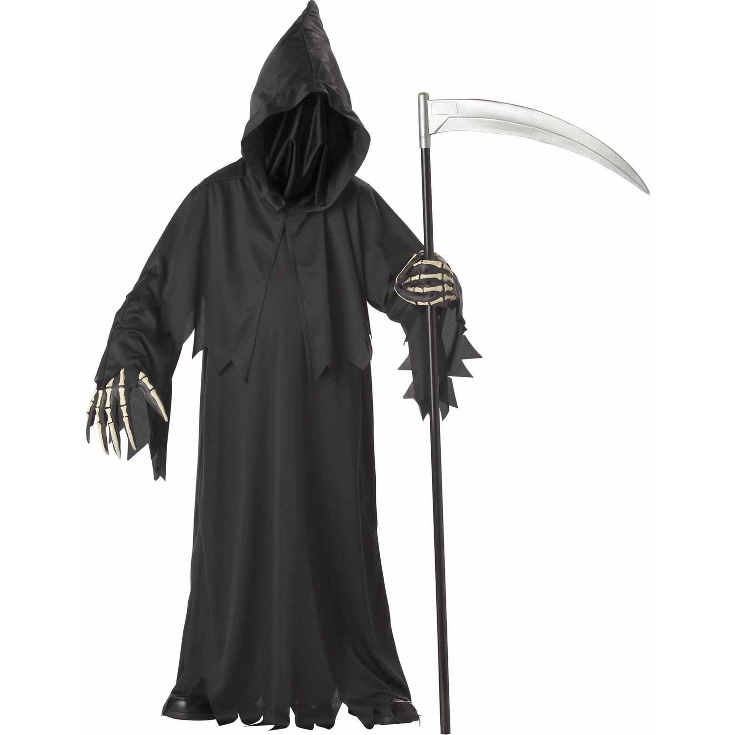 33e454bafa Grim Reaper Deluxe with Vinyl Hands Boys  Child Halloween Costume -  Walmart.com