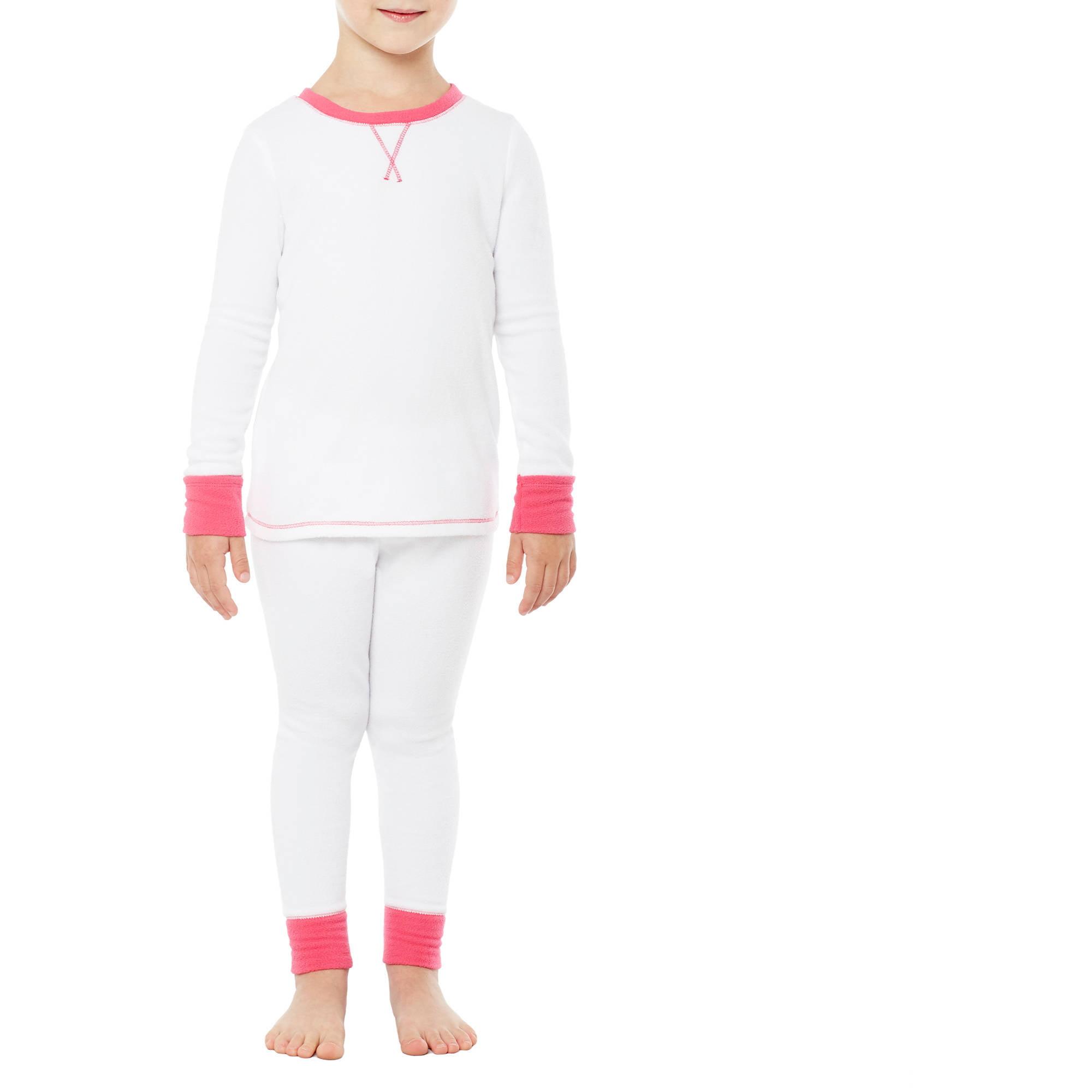 Climate Right by Cuddl Duds Toddler Girl Fleece Warm Underwear 2 PC set