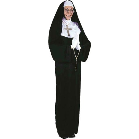 Morris Costumes Mother Superior lightweight black dress with drape sleeves, 2 piece habit Plus Size, Style