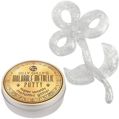 Silly Gilly's Moldable Putty Glitter Metallic Putty