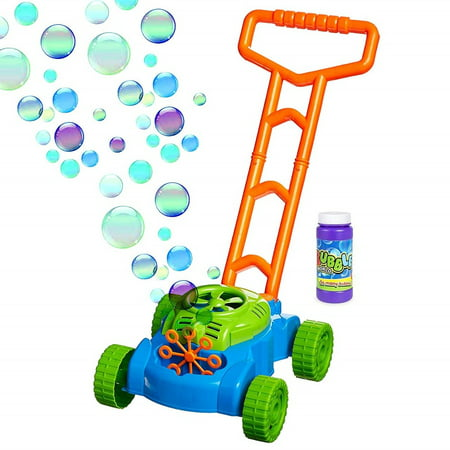 Toysery Electronic Bubble Mower | Comes with Bubble Refill Bottle | Durable Plastic | Designed with Fun Colors | Pleasure for Kids | Best for Indoor or Outdoor Play | for Ages 3+ (Bubble Club Bubble Lawn Mower)