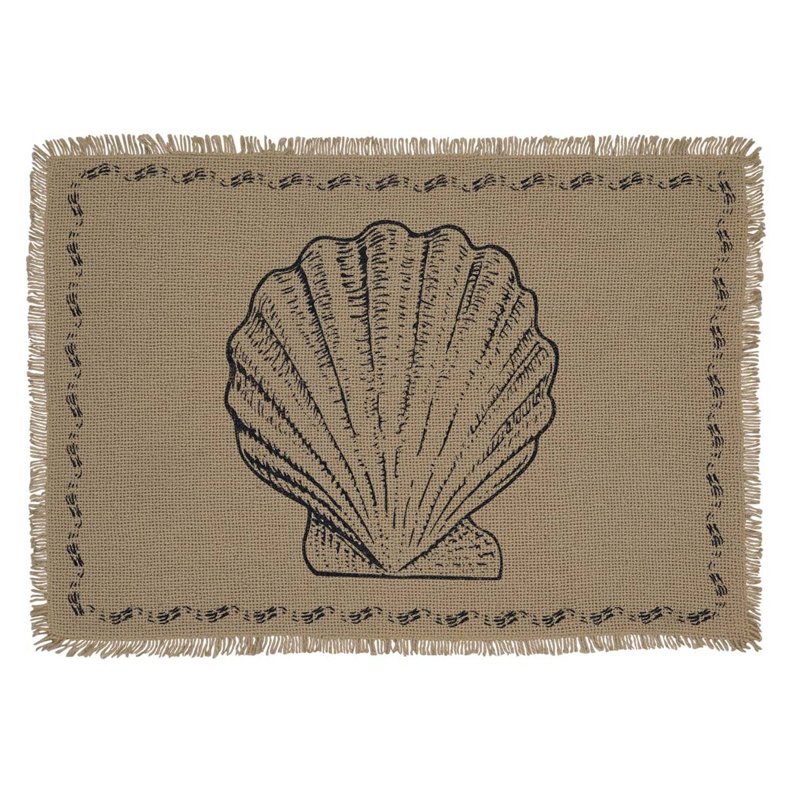 VHC Brands Sandy Burlap Placemat Set of 6 by VHC Brands