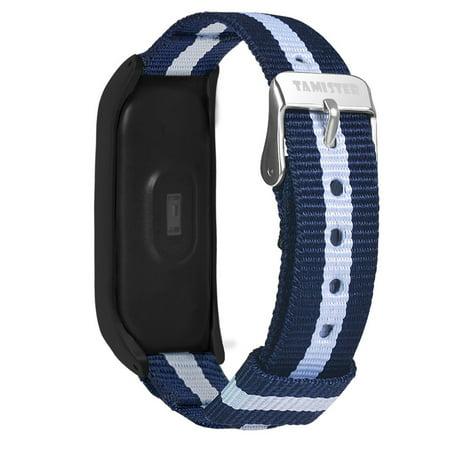 AutumnFall Luxury Nylon Ultrathin Metal Wristband Strap Watch Band For Xiaomi Mi Band 4