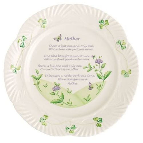 "Belleek 9"" Mother's Blessing Plate"