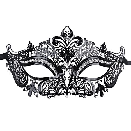 coxeer masquerade masks for women metal mardi gras mask venetian