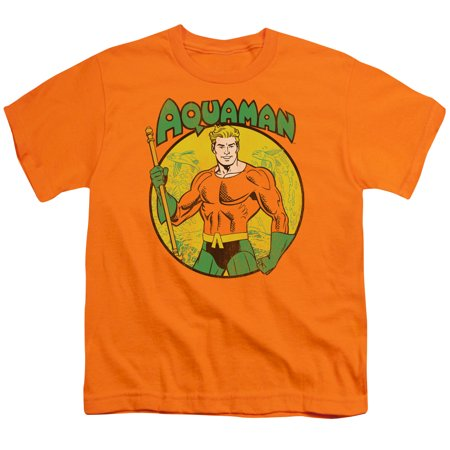 Dc/Aquaman S/S Youth 18/1 Orange Dco271