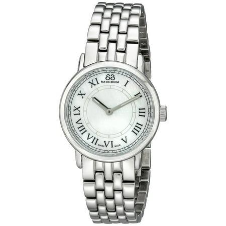 Women's Double 8 Origin 29mm Steel Bracelet Case Quartz Analog Watch 87WA120007 ()