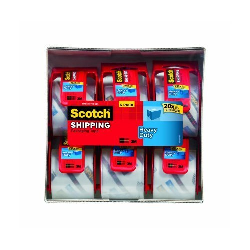 72 Rolls Scotch Heavy Duty Packaging Tape, 2 Inches x 800 Inches,