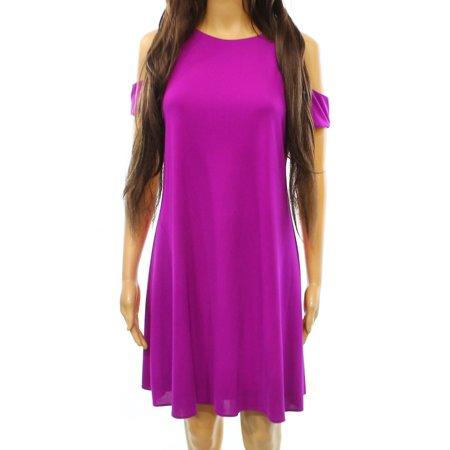 Lauren Ralph Lauren NEW Purple Womens Size 6 Cold Shoulder Sheath Dress